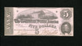 Confederate Notes:1862 Issues, T53 $5 1862. A fold near the left-hand edge is found on this AboutUncirulated, CC $5....