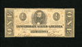 Confederate Notes:1862 Issues, T55 $1 1862. Sound edges envelope this Very Good Ace....