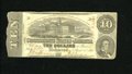 Confederate Notes:1863 Issues, T59 $10 1863. A small bit of edge furling is noticed on this Fine,CC $10....