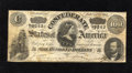 Confederate Notes:1864 Issues, T65 $100 1864. A small edge tear is noticed on this Fine-Very Fine C-note....