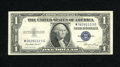 Error Notes:Ink Smears, Fr. 1614 $1 1935E Silver Certificate. Very Fine. A lovely darkgreen ink smear occupies the back lower left-hand corner on t...