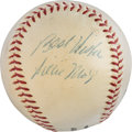 Baseball Collectibles:Balls, 1952-57 Willie Mays Single Signed Baseball. ...