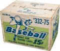 Baseball Cards:Unopened Packs/Display Boxes, 1975 Topps Mini Baseball Factory Sealed Case with Sixteen WaxBoxes. ...