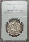Mozambique: Portuguese Colony 10 Escudos 1938 MS63 NGC
