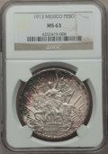 Mexico, Mexico: Republic Peso 1913 MS63 NGC,...