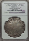 German States:Saxony, German States: Saxony. Christian II, Johann Georg I and August Taler 1597 VG Details (Mount Removed) NGC,...