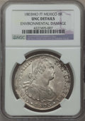 Mexico, Mexico: Charles IV 8 Reales 1803 Mo-FT UNC Details (EnvironmentalDamage) NGC,...