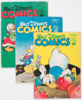 Golden Age (1938-1955):Cartoon Character, Walt Disney's Comics and Stories 62-79 Near Complete Range Group of13 (Dell, 1945-47).... (Total: 13 Comic Books)