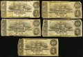 Confederate Notes:1863 Issues, T59 $10 1863 Five Examples.. ... (Total: 5 notes)
