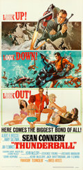 "Movie Posters:James Bond, Thunderball (United Artists, 1965). Three Sheet (41"" X 84"").. ..."