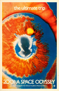 """2001: A Space Odyssey (MGM, 1969). One Sheet (27"""" X 41"""") Psychedelic Eye Style"""