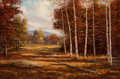 Fine Art - Painting, American:Contemporary   (1950 to present)  , William Henry Blackman (American, b. 1930). AutumnLandscape. Oil on canvas. 24 x 36 inches (61 x 91.4 cm). Signedlower...