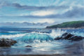 Fine Art - Painting, American:Contemporary   (1950 to present)  , Violet Parkhurst (American, 1921-2008). Seascape. Oil oncanvas. 24 x 36 inches (61 x 91.4 cm). Signed lower left:Par...