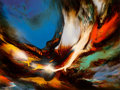 Paintings, Leonardo M. Nierman (American/Mexican, b. 1932). Biblical Fire. Acrylic on masonite. 23-3/4 x 31-1/2 inches (60.3 x 80.0...