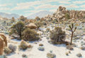 Fine Art - Painting, American:Contemporary   (1950 to present)  , Bernard Wynne (American, 1920-2009). Desert Landscape, 1985.Oil on masonite. 28 x 40 inches (71.1 x 101.6 cm). Signed l...