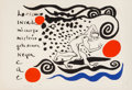 Prints, Alexander Calder (American, 1898-1976). Lo oscuro invade mi cuerpo, 1970. Lithograph in colors. 28-1/2 x 41-1/2 inches (...