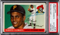 Baseball Cards:Singles (1950-1959), Signed 1955 Topps Roberto Clemente #164 Rookie Card - PSA/DNAAuthentic Auto NM-MT 8. ...