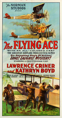 "The Flying Ace (Norman, 1926). Three Sheet (41"" X 79"")"