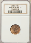 1864 1C Bronze No L MS65 Red and Brown NGC. NGC Census: (236/74). PCGS Population: (282/40). CDN: $550 Whsle. Bid for NG...