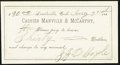 Obsoletes By State:Colorado, Leadville, CO- J.J. Boyle at Manville & McCarthy $30 Aug. 2, 1881...