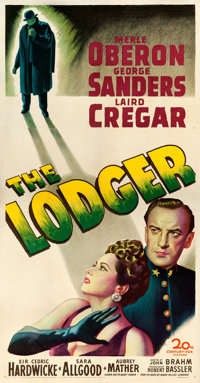 "The Lodger (20th Century Fox, 1944). Three Sheet (41"" X 78.5""). From the collection of William E. Rea"