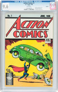 Modern Age (1980-Present):Superhero, Action Comics #1 Reprint (DC, 1988) CGC NM+ 9.6 White pages....