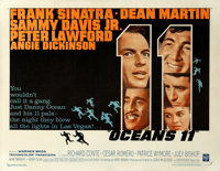 "Ocean's 11 (Warner Brothers, 1960). Half Sheet (22"" X 28.5""). Crime"