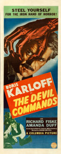 """Movie Posters:Horror, The Devil Commands (Columbia, 1941). Insert (14"""" X 36"""").. ..."""
