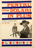 "Movie Posters:Western, For a Few Dollars More (United Artists, 1967). Romanian Poster(19.5"" X 27.5"").. ..."