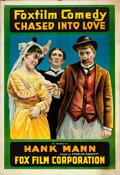 """Movie Posters:Comedy, Chased into Love (Fox, 1917). One Sheet (28"""" X 41"""").. ..."""
