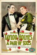 "Movie Posters:Comedy, A Pair of Sixes (Essanay, 1918). One Sheet (28"" X 42"").. ..."