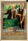 """Movie Posters:Comedy, Real Folks (Triangle, 1918). One Sheet (27"""" X 41"""").. ..."""