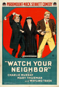 "Movie Posters:Comedy, Watch Your Neighbor (Paramount, 1919). One Sheet (27"" X 41"").. ..."