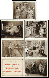 "The Kitchen Lady (Paramount, 1917). Title Lobby Card & Lobby Cards (6) (8"" X 10""). ... (Total: 7 Items)"
