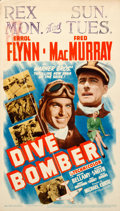 "Movie Posters:Action, Dive Bomber (Warner Brothers, 1941). Midget Window Card (8"" X 14"").. ..."