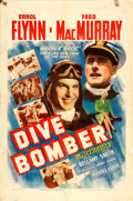 "Movie Posters:Action, Dive Bomber (Warner Brothers, 1941). One Sheet (27"" X 41"").. ..."
