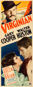 "Movie Posters:Western, The Virginian (Paramount, R-1935). Insert (14"" X 36"").. ..."