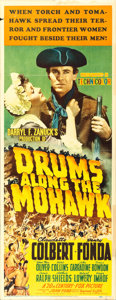 """Movie Posters:Adventure, Drums Along the Mohawk (20th Century Fox, 1939). Insert (14"""" X36"""").. ..."""