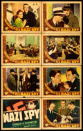 "Movie Posters:Drama, Confessions of a Nazi Spy (Warner Brothers, 1939). Linen FinishLobby Card Set of 8 (11"" X 14"").. ... (Total: 8 Items)"