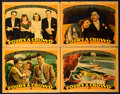"Movie Posters:Comedy, Four's a Crowd (Warner Brothers, 1938). Linen Finish Lobby Cards(4) (11"" X 14"").. ... (Total: 4 Items)"