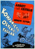 """Movie Posters:Comedy, Buck Privates (Universal, 1941). Swedish One Sheet (27.5"""" X39.5"""").. ..."""