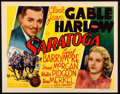 """Movie Posters:Comedy, Saratoga (MGM, 1937). Title Lobby Card (11"""" X 14"""").. ..."""