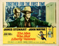 "Movie Posters:Western, The Man Who Shot Liberty Valance (Paramount, 1962). Half Sheet (22""X 28""). Western.. ..."