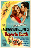 "Movie Posters:Musical, Down to Earth (Columbia, 1947). One Sheet (27"" X 41"") Style B. From the collection of William E. Rea.. ..."