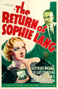 """Movie Posters:Mystery, The Return of Sophie Lang (Paramount, 1936). One Sheet (27"""" X 41""""). From the collection of William E. Rea.. ..."""