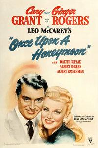 """Once Upon a Honeymoon (RKO, 1942). One Sheet (27"""" X 41"""") Style A. From the collection of William E. Rea"""
