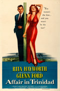 "Movie Posters:Film Noir, Affair in Trinidad (Columbia, 1952). One Sheet (27"" X 41"") Style B.From the collection of William E. Rea.. ..."