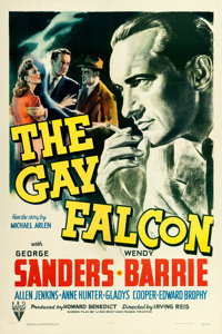 """The Gay Falcon (RKO, 1941). One Sheet (27"""" X 41""""). From the collection of William E. Rea"""