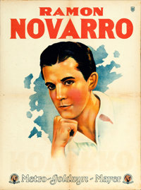 """Ramon Novarro (MGM, 1920s). Argentinean Personality Poster (21.5"""" X 29"""")"""