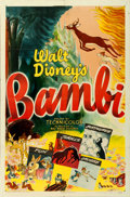 "Movie Posters:Animation, Bambi (RKO, R-1948). One Sheet (27"" X 41"").. ..."